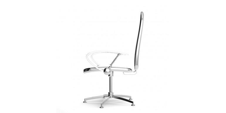 Chaise chromee en metal