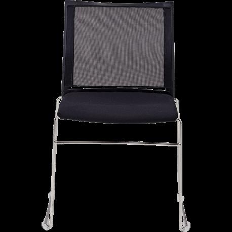Chaise de bureau empilable sarah filet assise tapissee