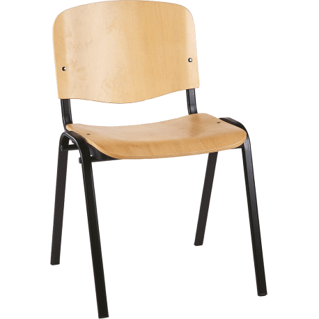 Chaise de bureau ou de reunion empilable classic bois