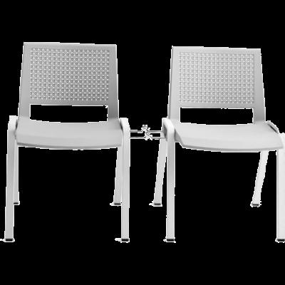Chaise de bureau ou de réunion empilable Sam - Couleur : Gris
