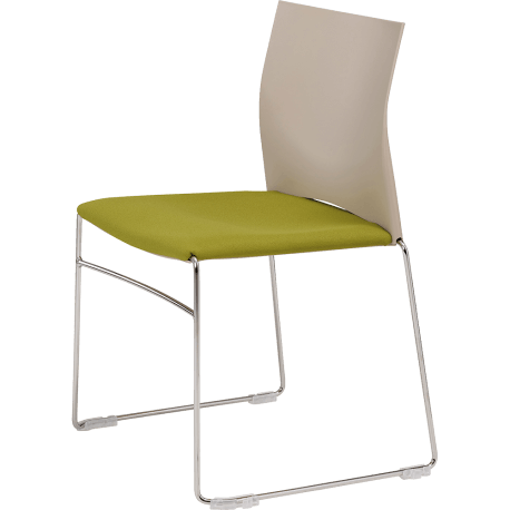 Chaise de reunion empilable sarah assise tapissee