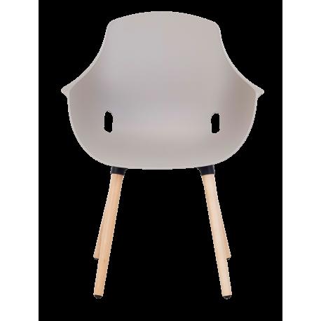 Chaise empilable de bureau empilable helene bois 2