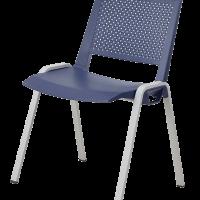 Chaise empilable sam bleu