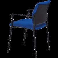 Fauteuil de bureau ou de reunion empilable ethan bleu