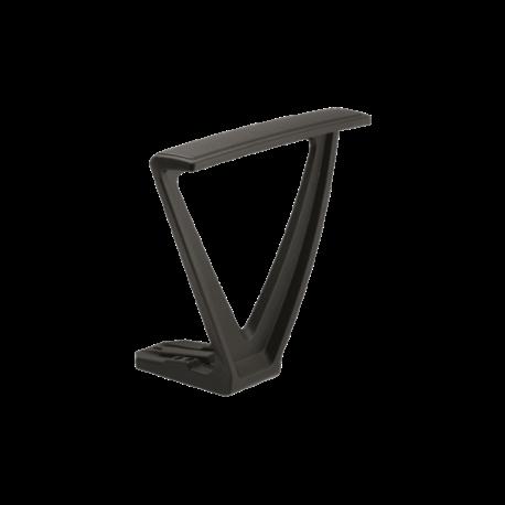 Paire d accoudoirs fixes pour chaises de bureau