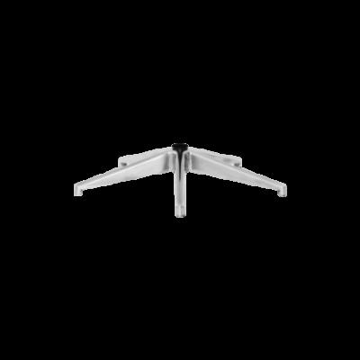 Piétement aluminium poli pour chaises de bureau